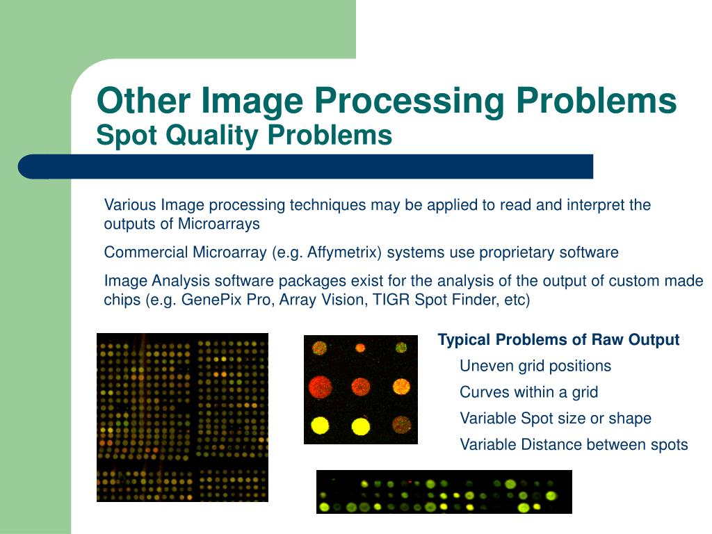 Typical Problems of Raw Output