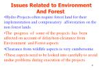 issues related to environment and forest