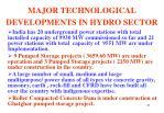 major technological developments in hydro sector27