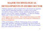 major technological developments in hydro sector28