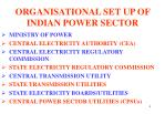organisational set up of indian power sector