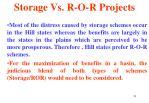 storage vs r o r projects23