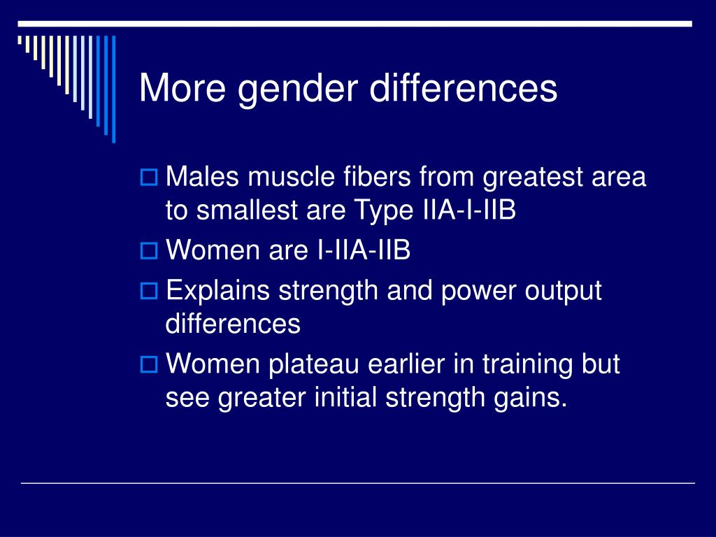 More gender differences