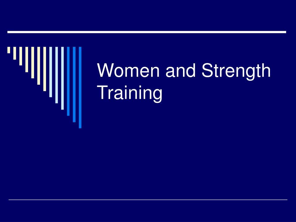 Women and Strength Training