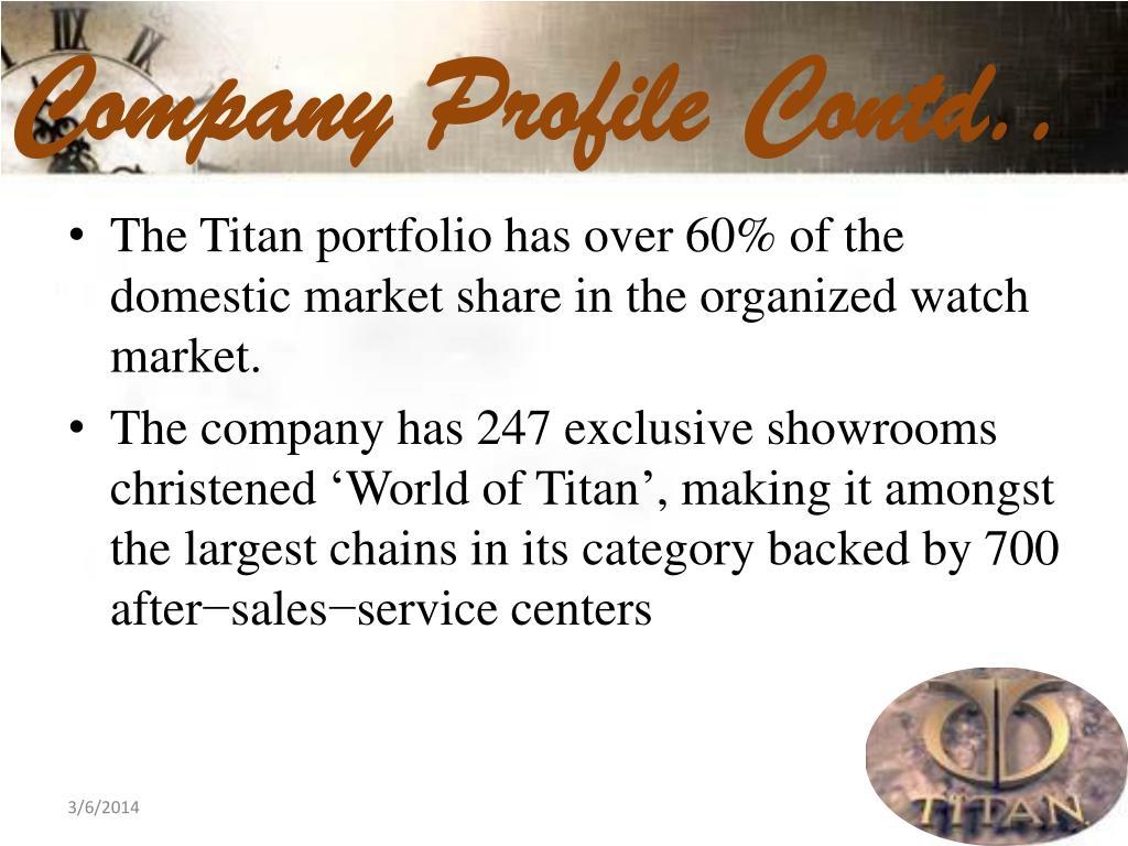 Company Profile Contd..