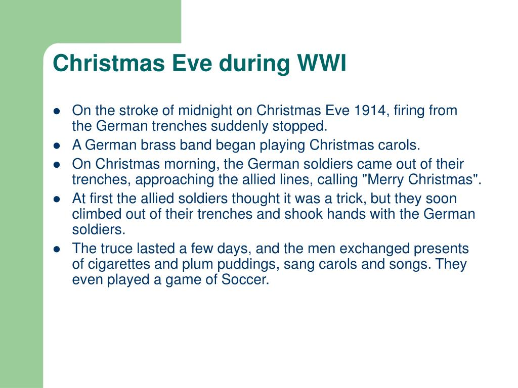 Christmas Eve during WWI