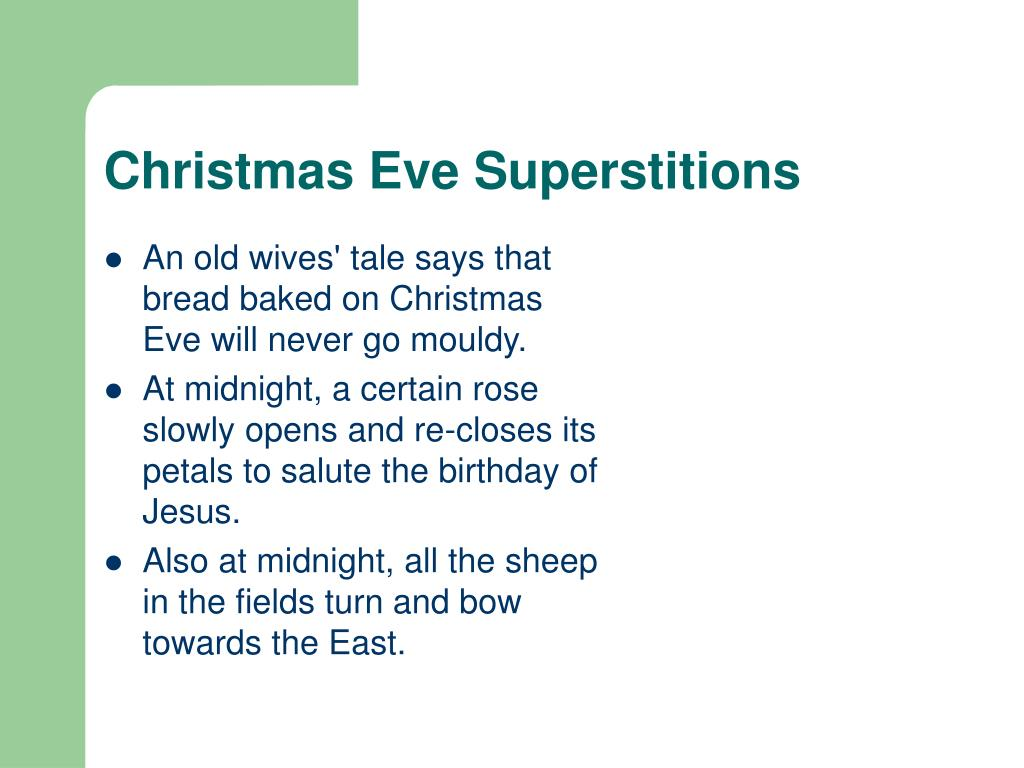 Christmas Eve Superstitions