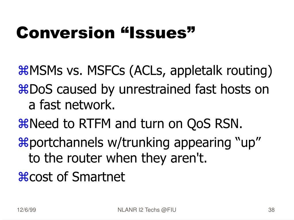 "Conversion ""Issues"""