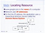 web locating resource