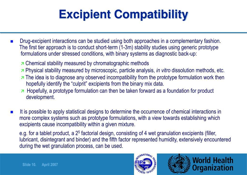 Excipient Compatibility