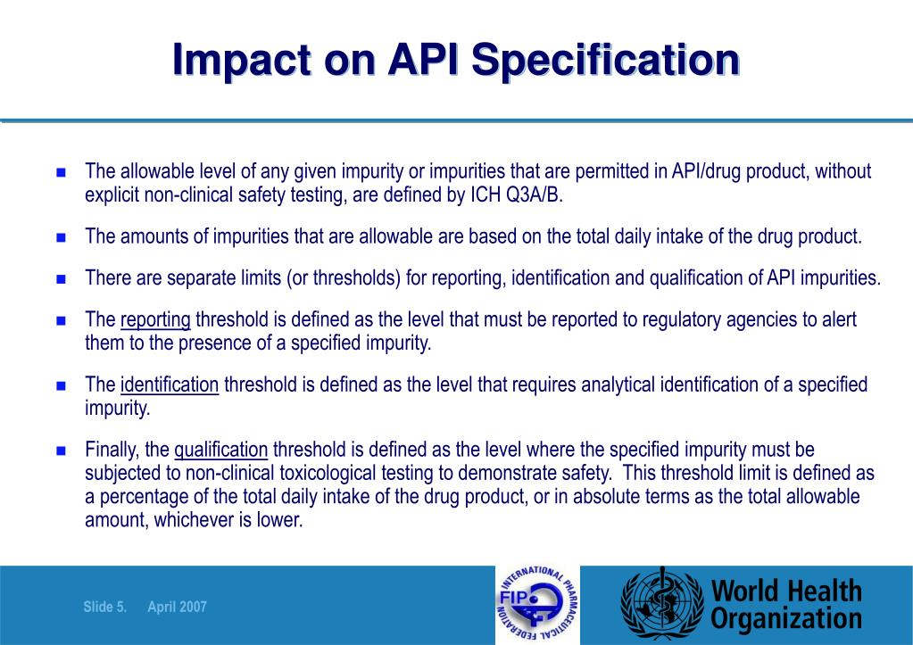 Impact on API Specification