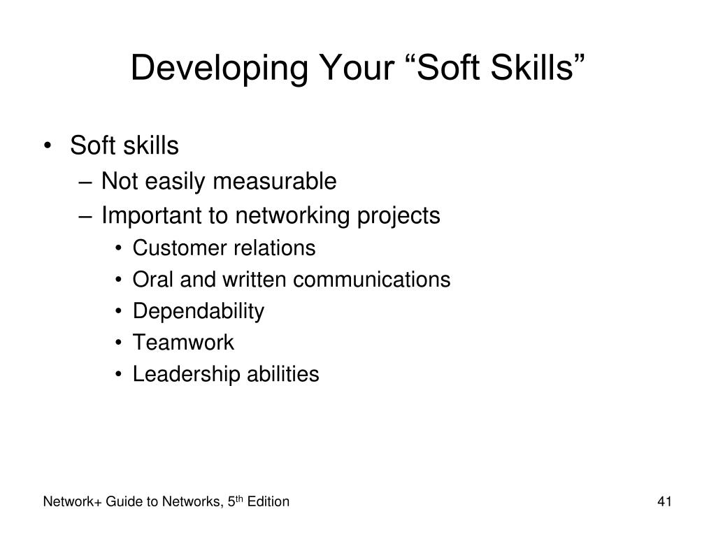 "Developing Your ""Soft Skills"""