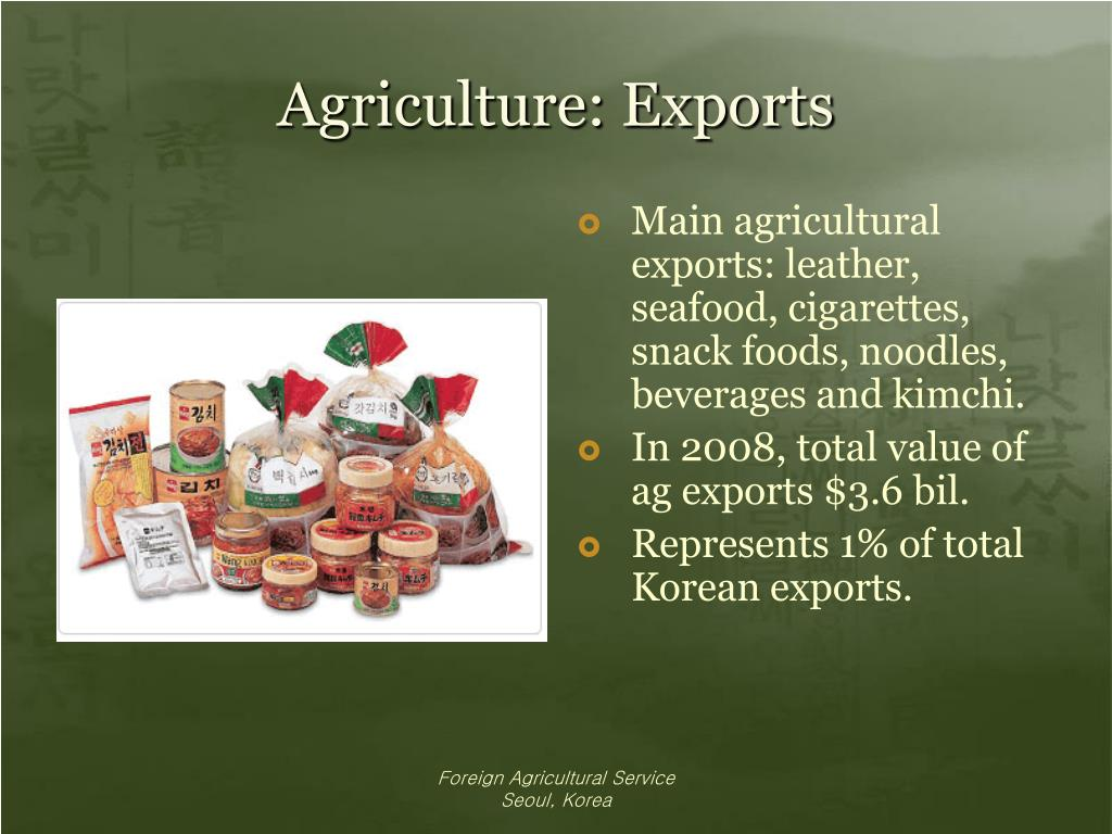 Agriculture: Exports
