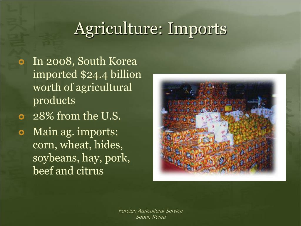 Agriculture: Imports