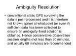 ambiguity resolution27