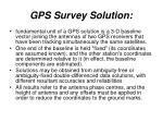 gps survey solution
