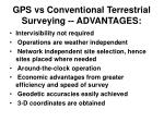 gps vs conventional terrestrial surveying advantages