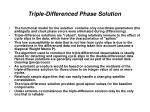 triple differenced phase solution