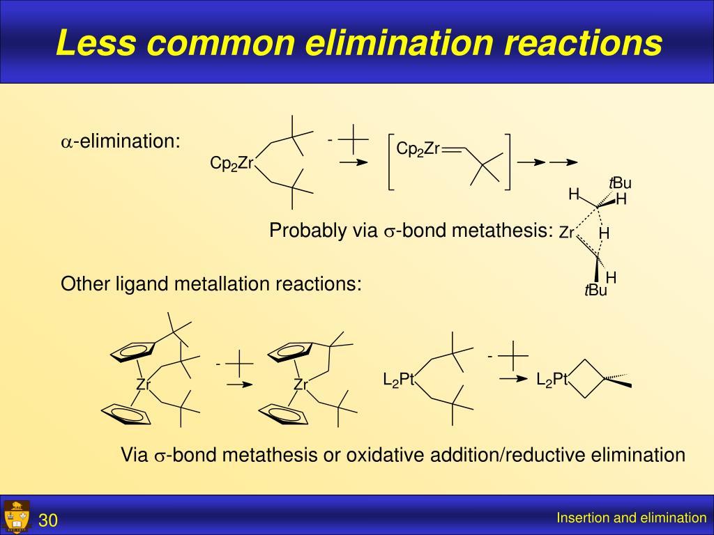 Less common elimination reactions