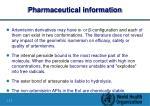 pharmaceutical information