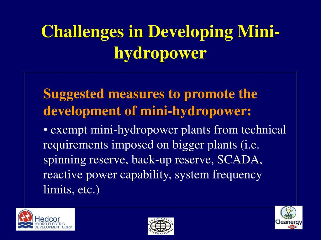 Challenges in Developing Mini-hydropower