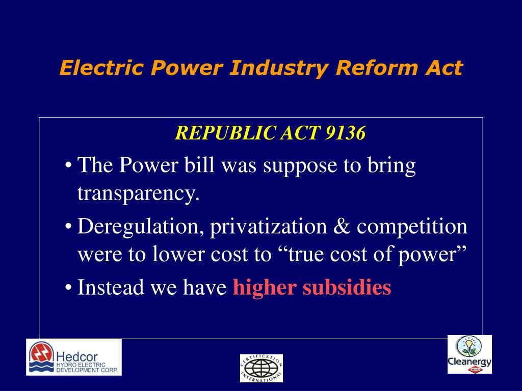 Electric Power Industry Reform Act