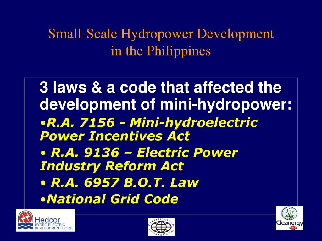 Small-Scale Hydropower Development