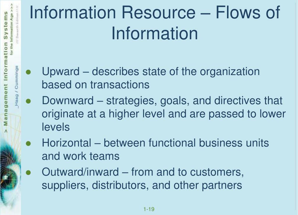 Information Resource – Flows of Information