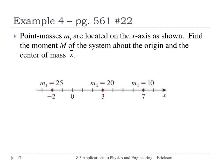 Example 4 – pg. 561 #22