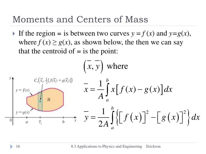 Moments and Centers of Mass