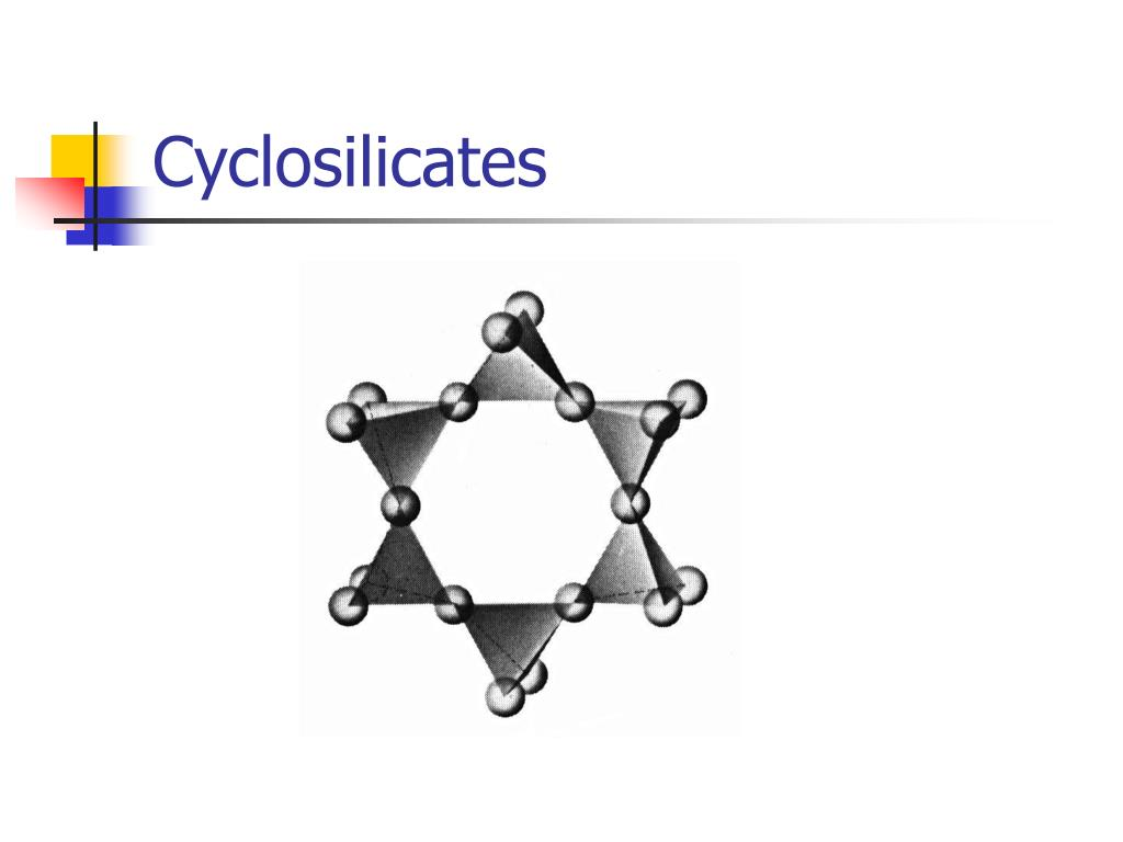 Cyclosilicates