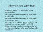 where do salts come from