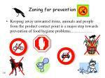 zoning for prevention