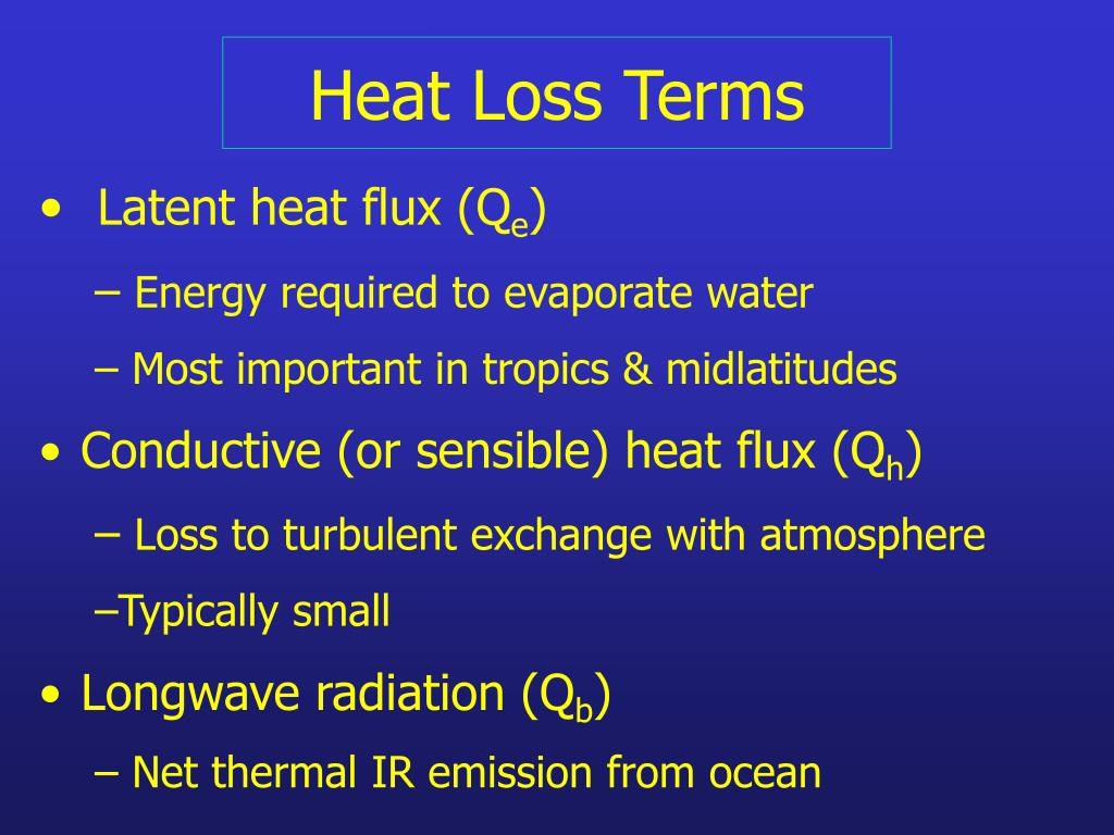 Heat Loss Terms
