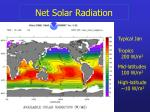 net solar radiation