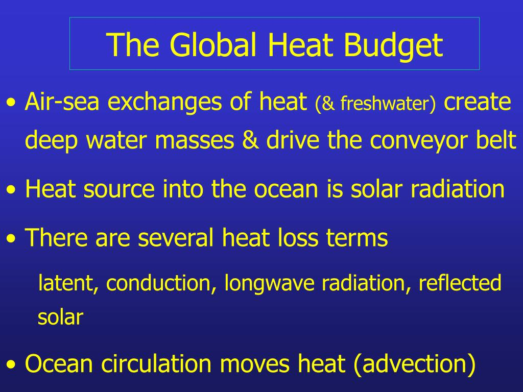 the global heat budget