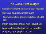 the global heat budget20