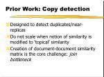 prior work copy detection