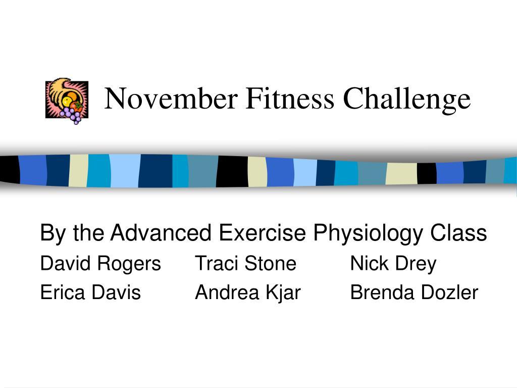 November Fitness Challenge