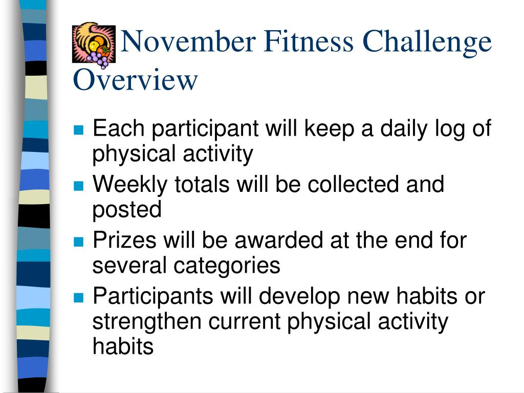 November Fitness Challenge Overview