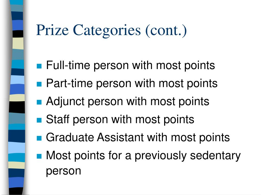 Prize Categories (cont.)