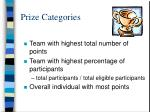 prize categories