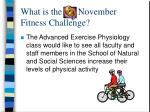 what is the november fitness challenge