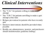 clinical interventions