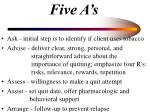 five a s