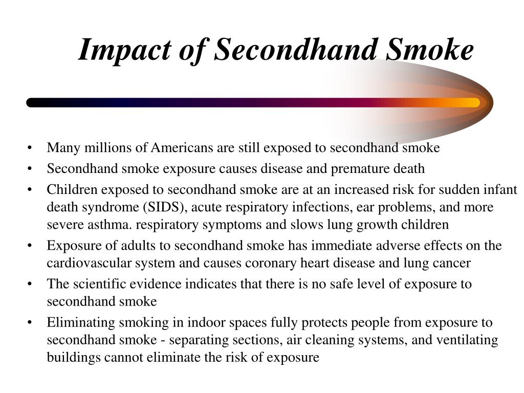 Impact of Secondhand Smoke