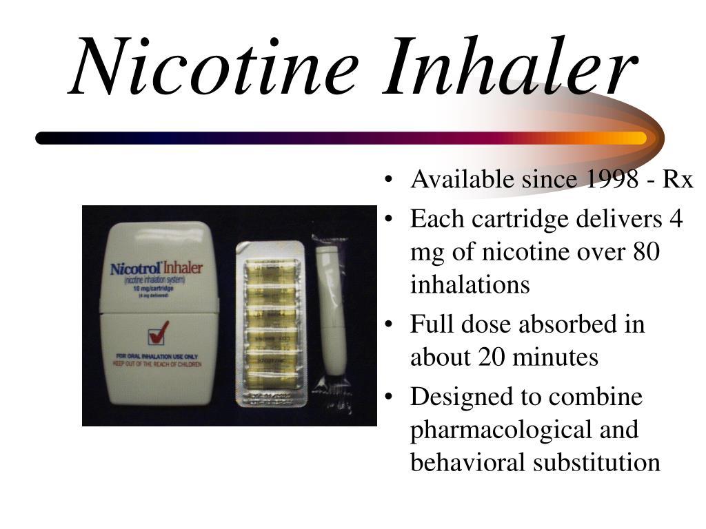 Nicotine Inhaler