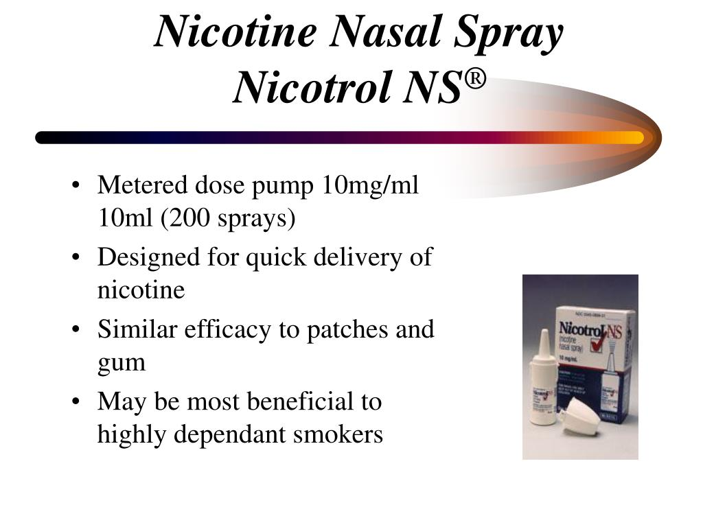 Nicotine Nasal Spray