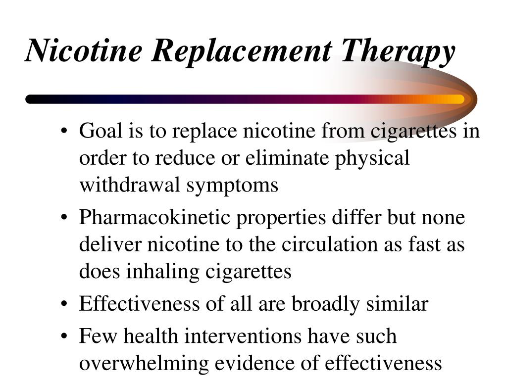 Nicotine Replacement Therapy