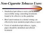 non cigarette tobacco users